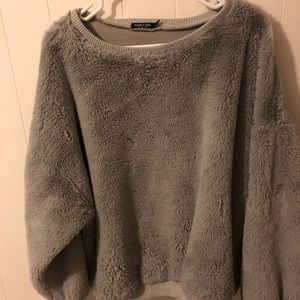 Soft and fuzzy teddy bear pullover by Nasty Gal!